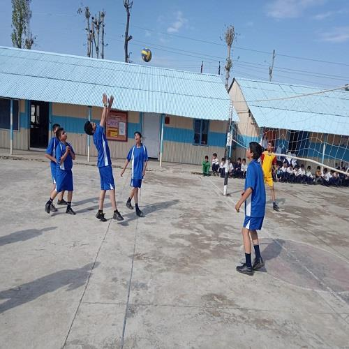 Volley Ball Match on Children